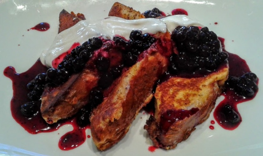 The Brioche French Toast at Sam's Chowder House in Palo Alto.